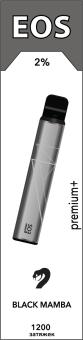 EOS e-stick Premium Plus BLACK MAMBA (2% 3.7ml 1200 затяжек)