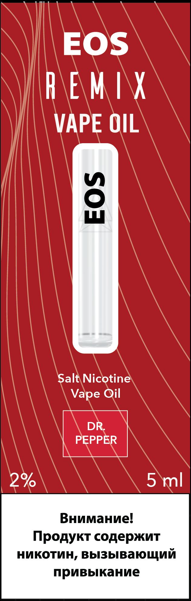 EOS REMIX SALT NIC DR. PEPPER 2% 5ml