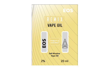 EOS REMIX SALT NIC PINEAPPLE COCONUT 2% 20ml