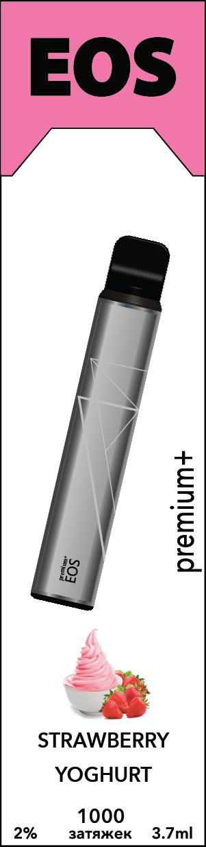 EOS e-stick Premium Plus STRAWBERRY YOGHURT (2% 3.7ml 1000 затяжек)