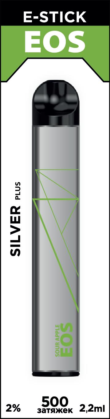 EOS e-stick Silver Plus SOUR APPLE (2% 2.2ml 500 затяжек)