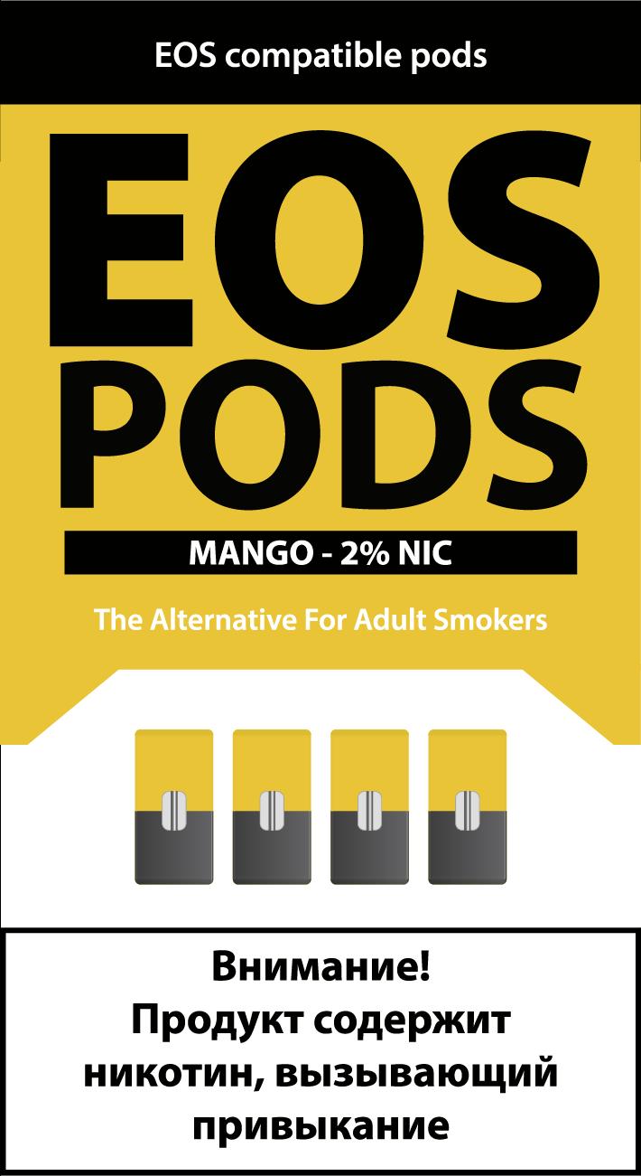 EOS PODS (4шт) MANGO (2% 1pod=1ml)