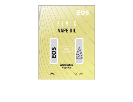 EOS REMIX SALT NIC PINA COLADA 2% 20ml