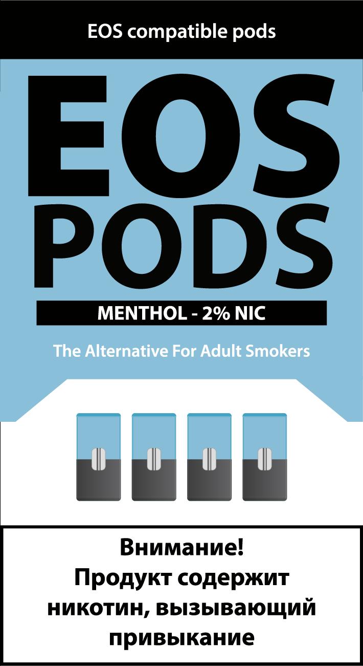 EOS PODS (4шт) MENTOL (2% 1pod=1ml)
