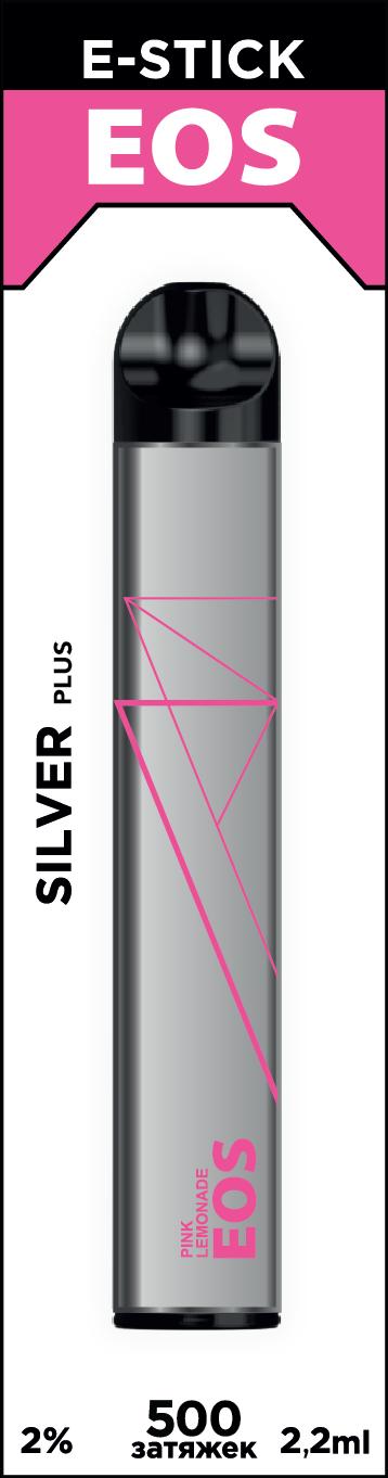 EOS e-stick Silver Plus PINK LEMONADE (2% 2.2ml 500 затяжек)