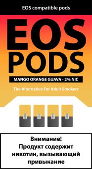 EOS PODS (4шт) MANGO ORANGE GUAVA (2% 1pod=1ml)