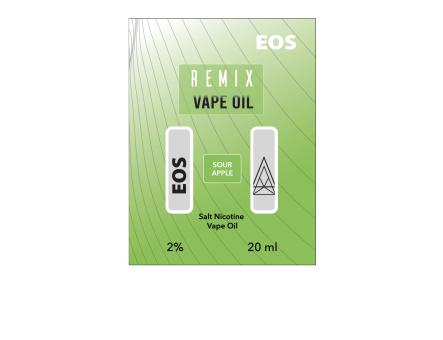 EOS REMIX SALT NIC SOUR APPLE 2% 20ml