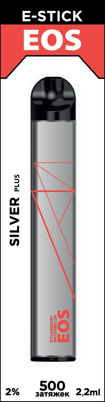EOS e-stick Silver Plus STRAWBERRY WATERMELON (2% 2.2ml 500 затяжек)