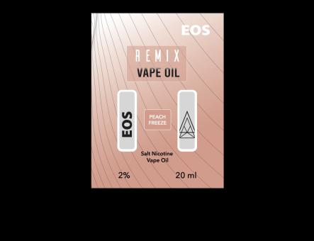 EOS REMIX SALT NIC PEACH FREEZE 2% 20ml