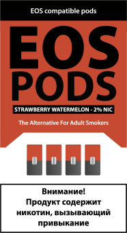 EOS PODS (4шт) STRAWBERRY WATERMELON (2% 1pod=1ml)