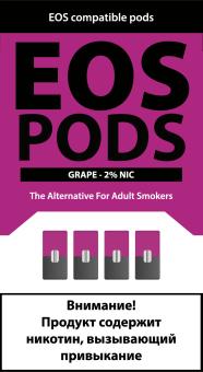 EOS PODS (4шт) GRAPE (2% 1pod=1ml)