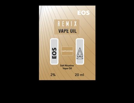 EOS REMIX SALT NIC CAPPUCCINO 2% 20ml