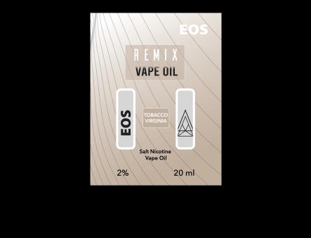EOS REMIX SALT NIC TOBACCO VIRGINIA  2% 20ml