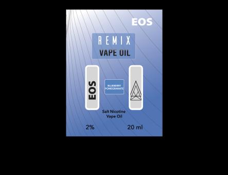 EOS REMIX SALT NIC BLUEBERRY POMEGRANATE 2% 20ml