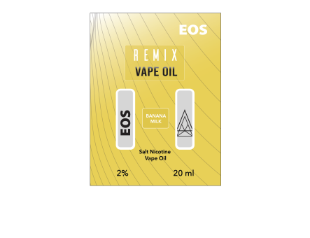 EOS REMIX SALT NIC BANANA MILK 2% 20ml