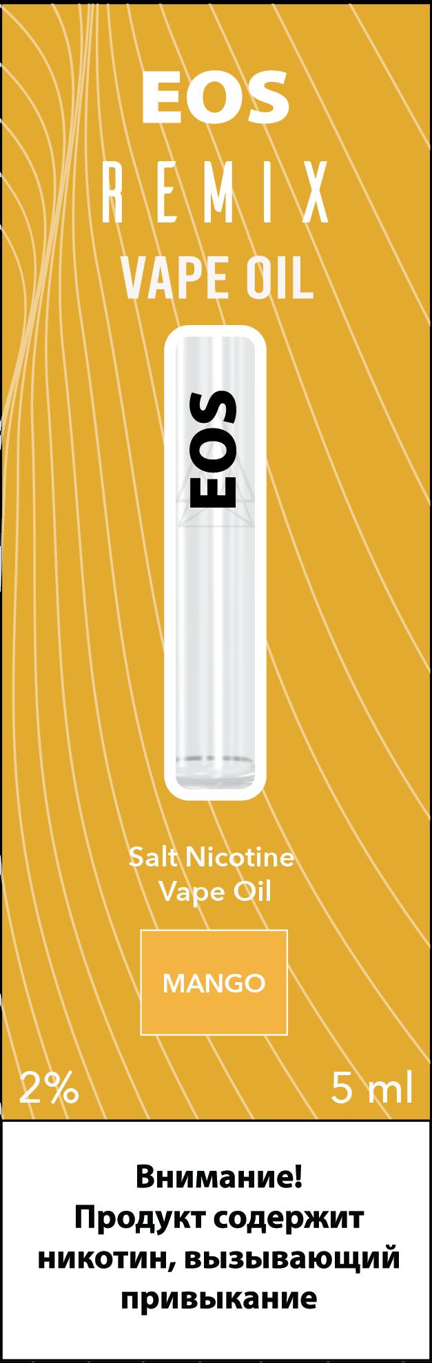 EOS REMIX SALT NIC MANGO 2% 5ml