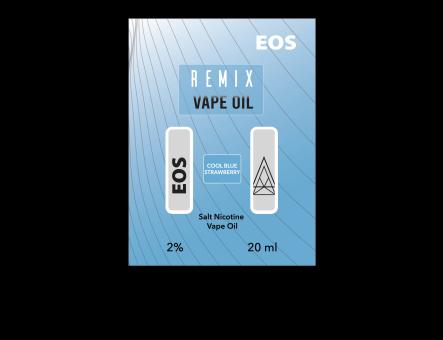 EOS REMIX SALT NIC COOL BLUE STRAWBERRY 2% 20ml